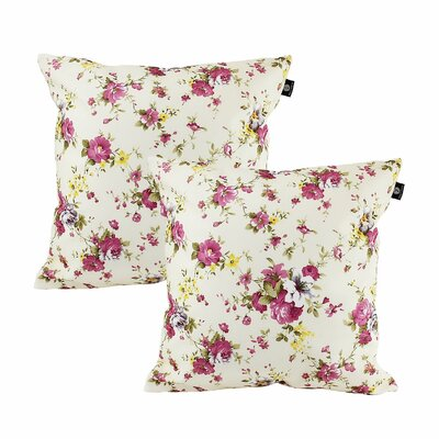 Darian Cotton Pillow Cover Color: White/Yellow