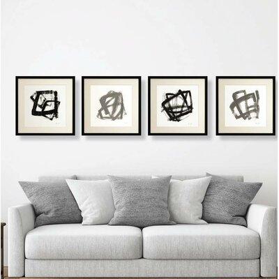 'Modifiation' 4 Piece Framed Drawing Print Set