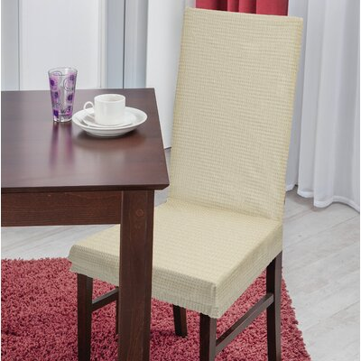Dining Chair T-Cushion Slipcover Upholstery: Ivory