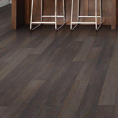 Stanbury Glazed 3 x 24 Porcelain Wood Look Tile in Coffee Bean