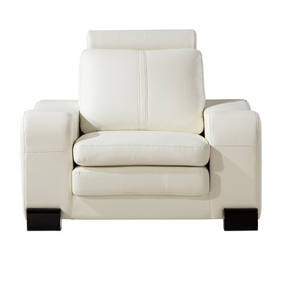 Vierra Club Chair with Ottoman Finish: White