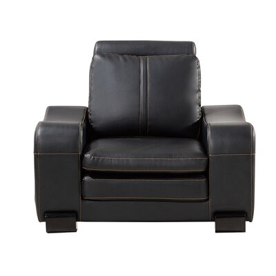 Vierra Club Chair with Ottoman Finish: Black