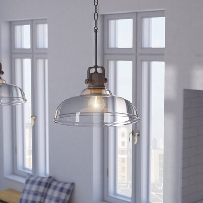 Fuhrmann 1-Light Inverted Pendant Finish: Burnished Bronze