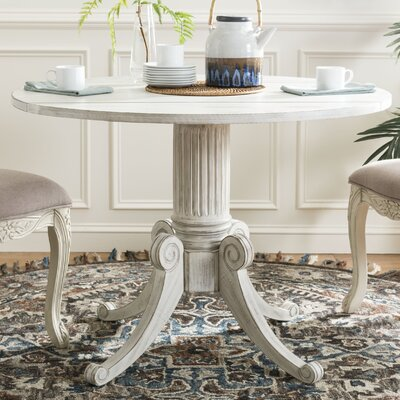 Albertine Drop Leaf Dining Table Color: Antique White