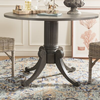 Albertine Drop Leaf Dining Table Color: Gray Wash