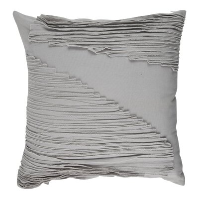 Shelba 100% Cotton Throw Pillow Color: Gray