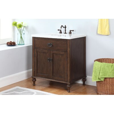 Savin 30 Single Bathroom Vanity Set with Mirror