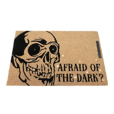 Skeleton Afraid of the Dark Lighted Doormat