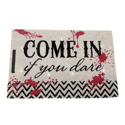 Come In If You Dare Lighted Doormat