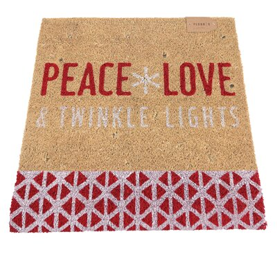 Peace Love and Twinkle Lights Lighted Doormat