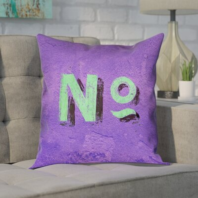 Enciso Square Graphic Wall Pillow Cover Size: 14 x 14, Color: Purple/Green