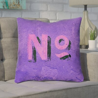 Enciso Graphic Wall Throw Pillow with Zipper Size: 14 x 14, Color: Purple/Pink