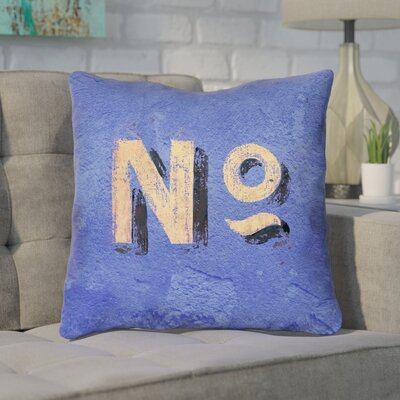 Enciso Graphic Square Wall Throw Pillow Size: 14 x 14, Color: Blue/Beige