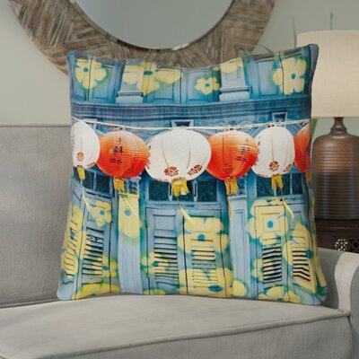 Akini Double Sided Print Lanterns in Singapore Euro Pillow