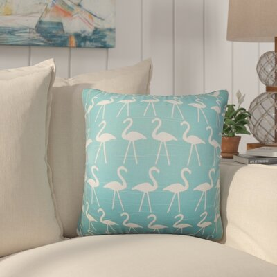 Brylee Animal Print Cotton Throw Pillow Color: Coastal Blue, Size: 20 x 20