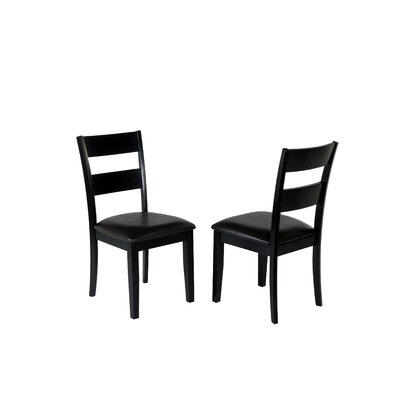 Agustine Solid Wood Dining Chair Upholstery Color: Black