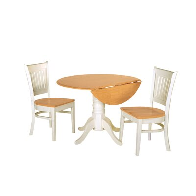 Agnese 3 Piece Drop Leaf Dining Set