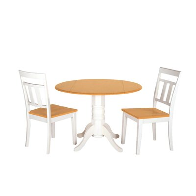 Adette 3 Piece Drop Leaf Dining Set