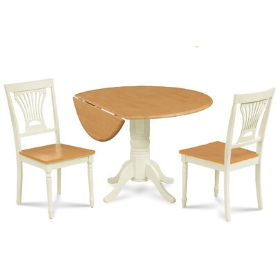 Adelyte 3 Piece Drop Leaf Dining Set
