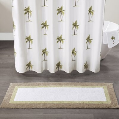 Micheal Palm Cotton Tufted Bath Rug