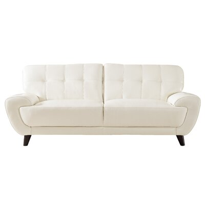 Sterns Craft Leather Sofa Upholstery: Ivory White