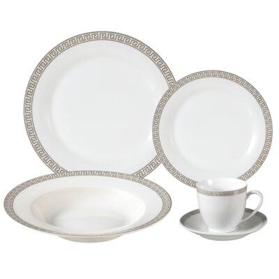 Gaskins Porcelain 24 Piece Dinnerware Set, Service for 4 LH406
