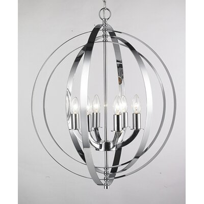 Sliger 6-Light Globe Pendant Finish: Chrome
