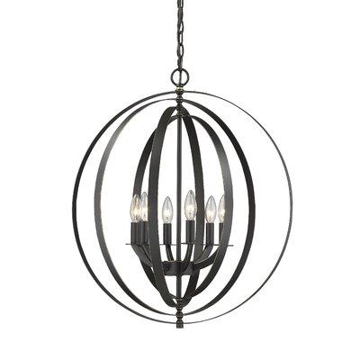Sliger 6-Light Globe Pendant Finish: Bronze