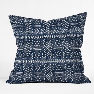 Little Arrow Design Co Vintage Moroccan Throw Pillow Color: Navy, Size: 16 x 16