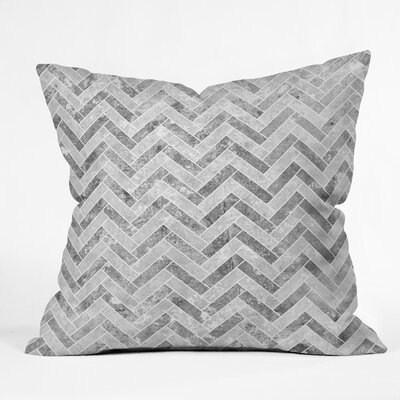 Kelly Haines Concrete Herringbone Throw Pillow Size: 18 x 18