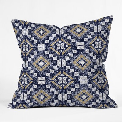 Marta Barragan Camarasa Mystic Tribal Throw Pillow Color: Navy, Size: 16 x 16
