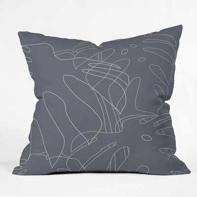 The Old Art Studio Monster Throw Pillow Color: Gray, Size: 26 x 26