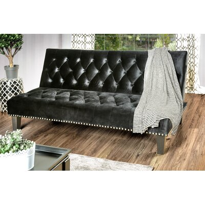 Gumbs Transitional Convertible Sofa Upholstery: Black
