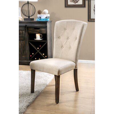 Villanueva Transitional Upholstered Dining Chair Upholstery Color: Ivory