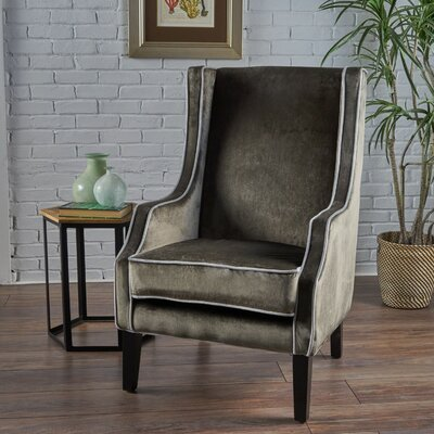 Dowland Accent Wingback Chair Upholstery: Gray
