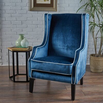 Dowland Accent Wingback Chair Upholstery: Light Blue