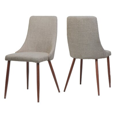 Doolin Mid-Century Upholstered Dining Chair Upholstery: Wheat