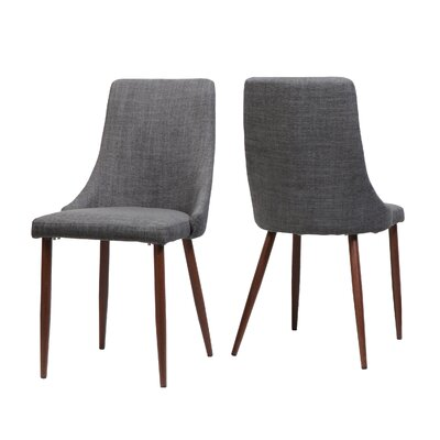 Doolin Mid-Century Upholstered Dining Chair Upholstery: Gray