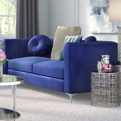 Mishti Sofa Upholstery: Blue
