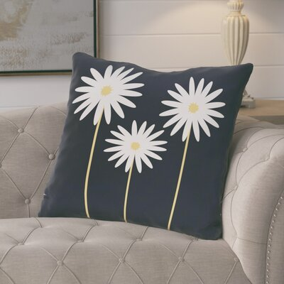 Broecker Floral Print Outdoor Throw Pillow Color: Bewitching, Size: 16 H x 16 W x 1 D