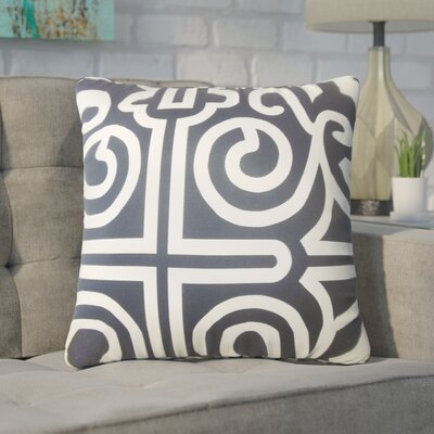 Wethington Geometric Down Filled 100% Cotton Throw Pillow Size: 22 x 22, Color: Black/White
