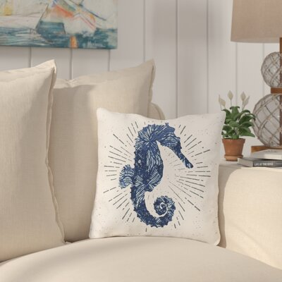 Arlette Seahorse Bursts Throw Pillow Size: 18 H x 18 W x 3 D
