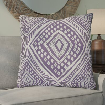 Hieu Square Throw Pillow Size: 20 H x 20 W x 3 D, Color: Purple