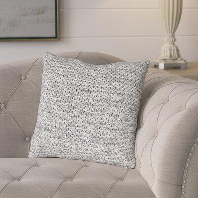 Tobias Cotton Throw Pillow Color: Taupe