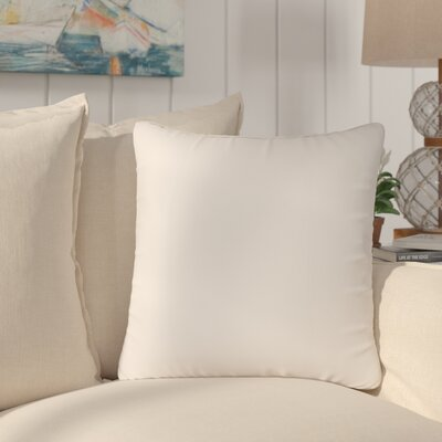 Amald Faux leather Throw Pillow Size: 20 H x 20 W, Color: White