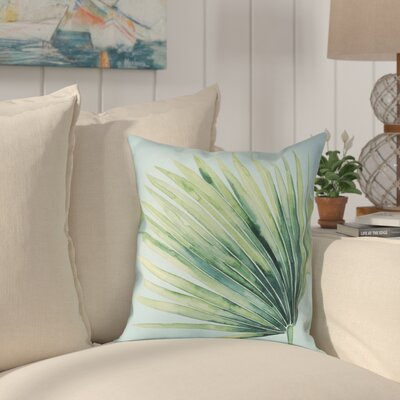 Elle Tropical Palm Tree Leaves II Outdoor Throw Pillow Size: 20 x 20