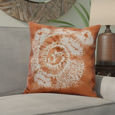 Viet Conch Throw Pillow Size: 26 H x 26 W, Color: Coral