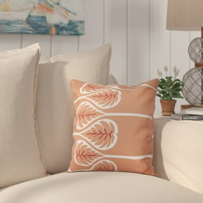 Hilde 1 Floral Print Throw Pillow Size: 16 H x 16 W, Color: Coral