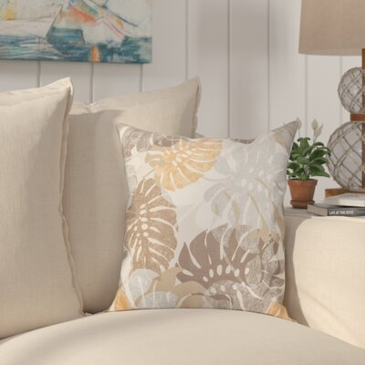Nicola Outdoor Throw Pillow Size: 20 H x 20 W, Color: Melon