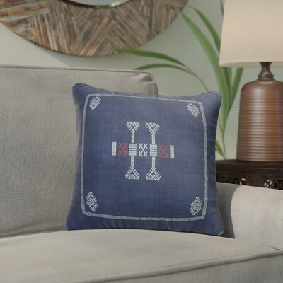 Morro Accent Throw Pillow Color: Blue/ Navy, Size: 24 x 24